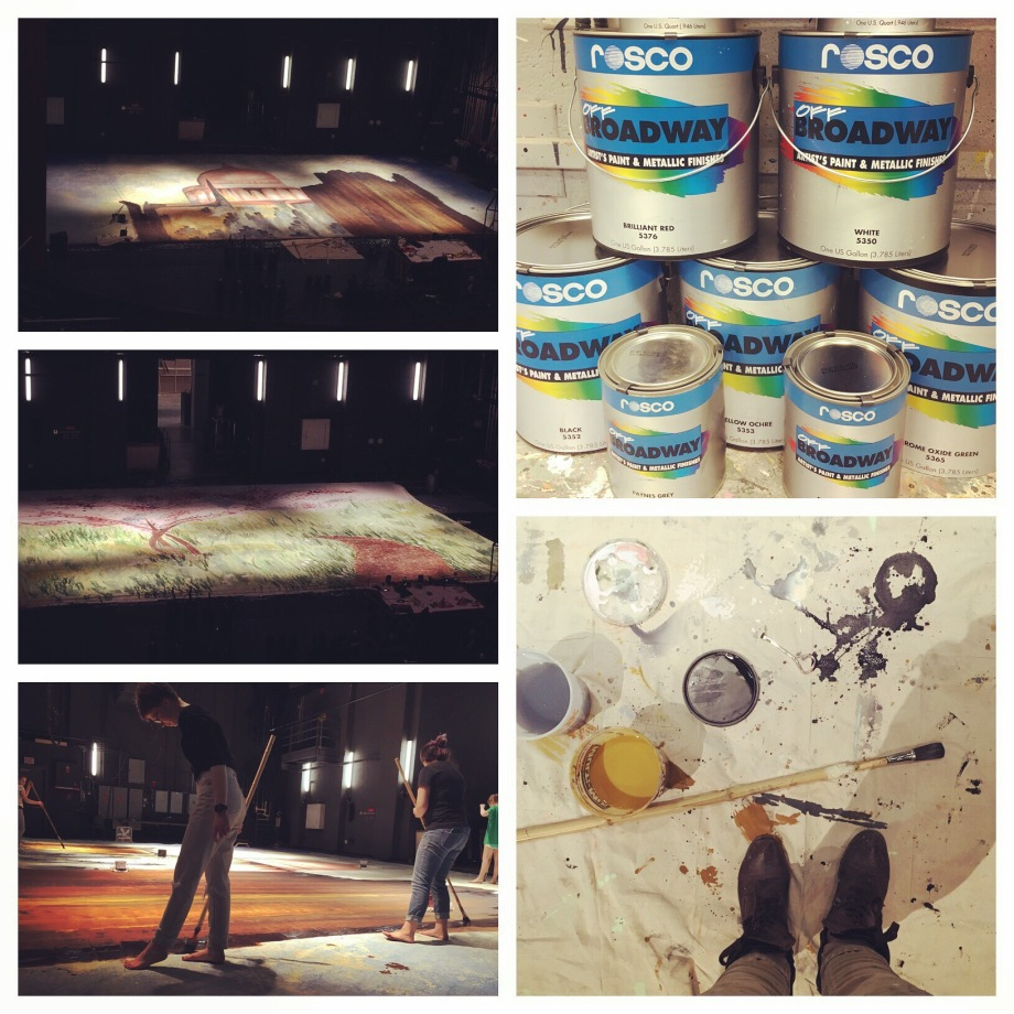Mentoring Scenic Painting Students